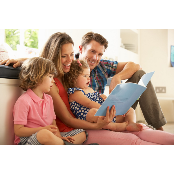 Lib Dem Stock - Family Reading