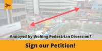 Woking Pedestrian Petition - button