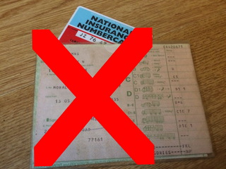 Old Driving licence & NI card (Woking Lib Dems)