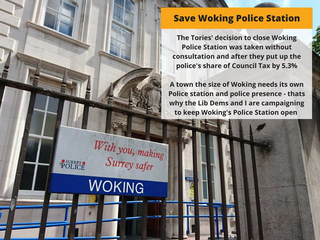 Save our police station (Woking Lib Dems)