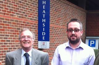 Accompanying photo shows Cllr Ian Johson (left of photo) and Cllr Liam Lyons (right of photo) at the car park.