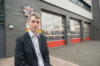 Will Forster by Woking Fire Station