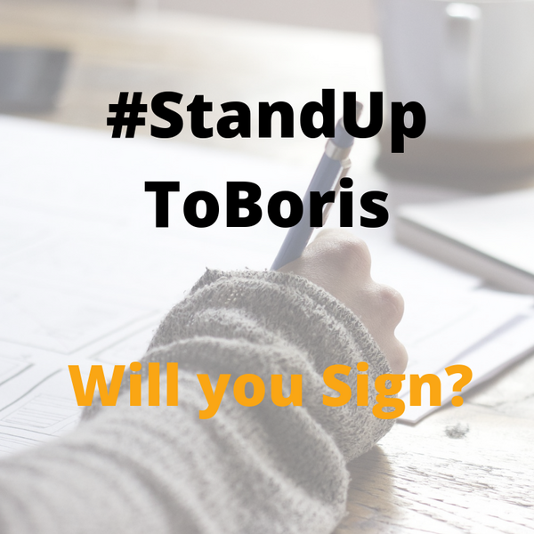 Stand up to Boris Letter - will you sign