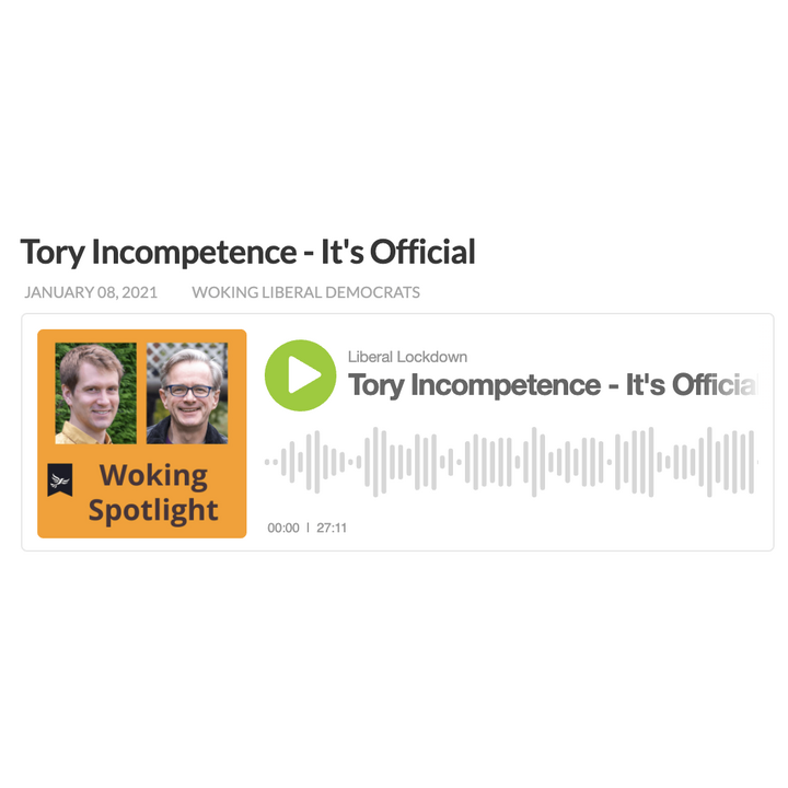 Tory Incompetence - it's official