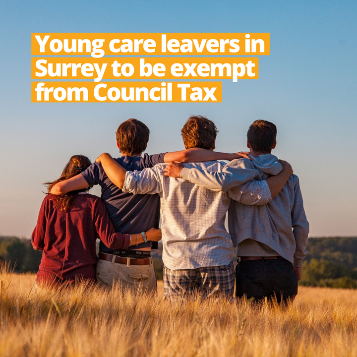 Surrey Young Care Leavers - Council Tax exemption