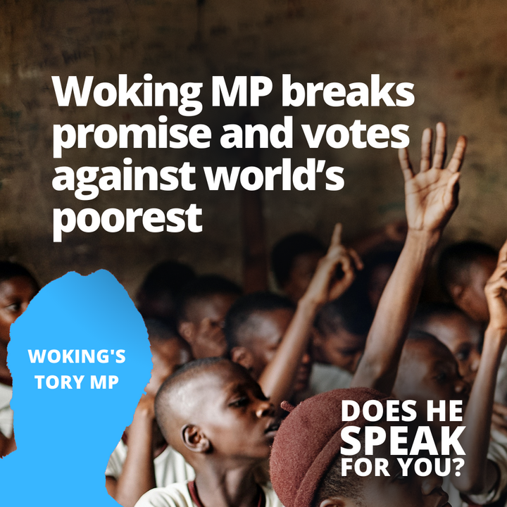 Locla MP breaks promise and votes against worlds poorest
